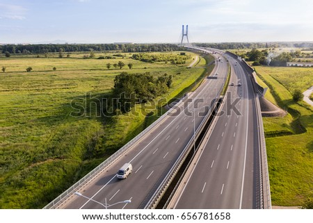 aerial view of the highway  #656781658