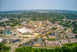 Aerial view of the Madison Suburb of Sun Prairie, Wisconsin