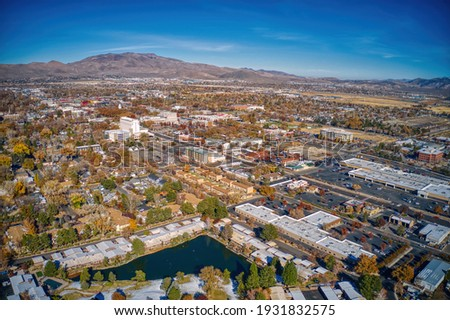 Aerial View of the Nevada Capitol of Carson City Stock fotó ©