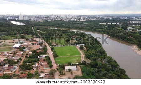 Aerial view of the Operário Futebol Clube Training Center in Cuiabá Foto stock ©