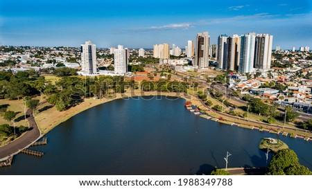 Aerial view of the Parque das Nações Indígenas. Campo Grande, Mato Grosso do Sul, Brazil Foto stock ©