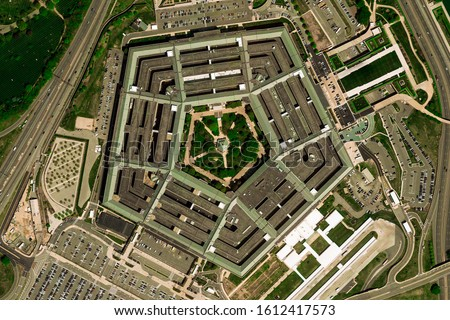 Aerial view of the Pentagon  ストックフォト ©