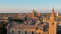 Aerial view of the Reggio Emilia town center, Emilia Romagna / Italy