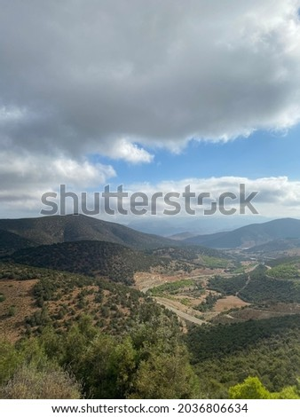 Aerial view of the Rif mountains in Morocco Stockfoto ©