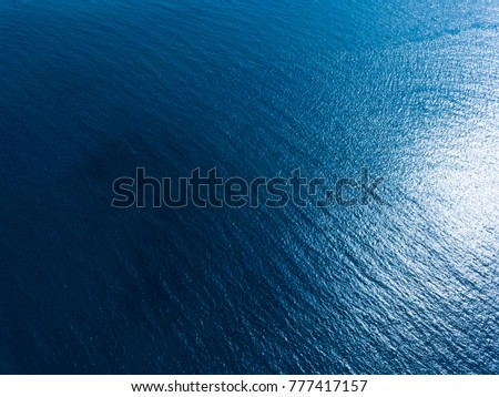 Aerial view of the sea surface