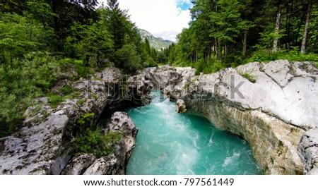 Aerial View Of The Soca River, Slovenia #797561449