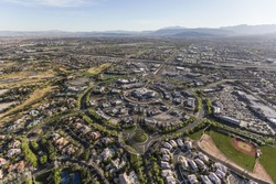 Aerial view of the Summerlin neighborhood in Las Vegas, Nevada.