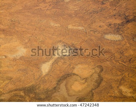 Aerial View of the Textures and Patterns of the Desert Sands in the Northern Territories of Australia