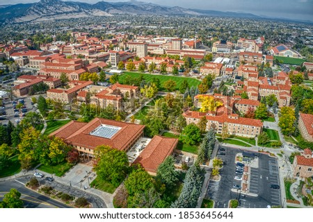 Aerial View of the University of Colorado in Boulder Stock photo ©