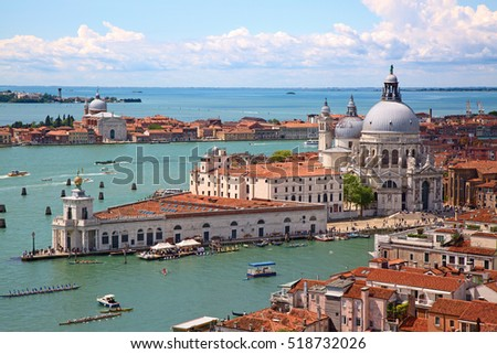 aerial view of the venice city  ...