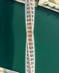 Aerial view of Tolerance Bridge Dubai famous Touist Attraction best place to visit in holidays modern architecture design