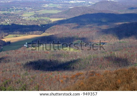 Aerial View of Trees and Mountains