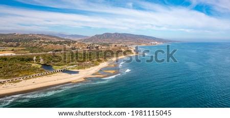 Aerial View of Trestles Beach in San Clemente, California Stockfoto ©