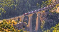 Aerial view of Varda railway bridge -   Adana, Turkey