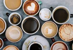 Aerial view of various coffee
