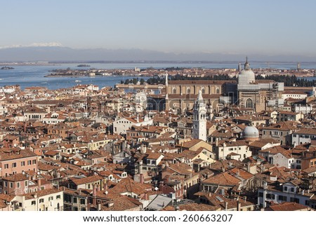 Aerial View of Venice from the Campanile, Italy