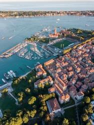 Aerial view of Venice marine by stadium of FC Venezia