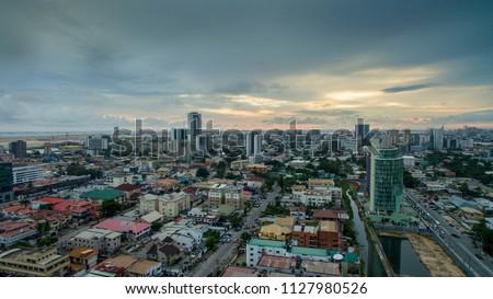 Aerial view of Victoria Island Lagos Nigeria #1127980526