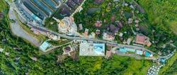Aerial view of wat phra thart pha sorn kaew in Khaok. Phetchabun province, Thailand.