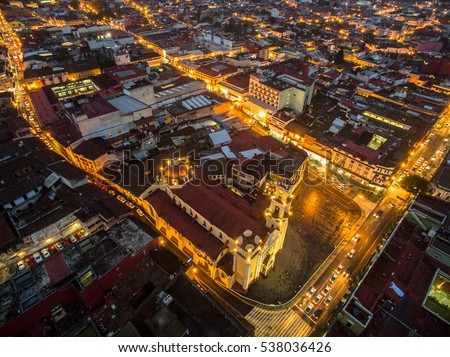 Shutterstock Aerial view of Xalapa downtown