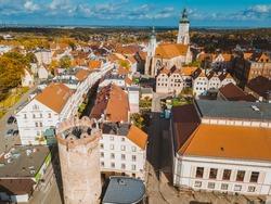 Aerial view of Zlotoryja. Zlotoryja, Lower Silesia, Poland.