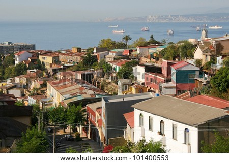 Aerial view on Valparaiso, Chile