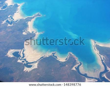 Aerial view on West Coast of Australia