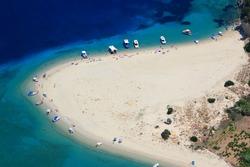 Aerial view on Zakynthos Greece - Marathonisi island