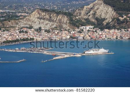 Aerial view on Zakynthos island Greece - Zante town