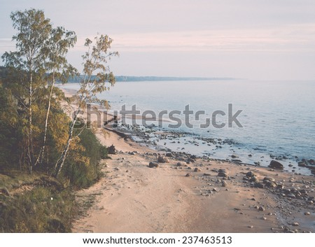 aerial view to the shoreline of ...