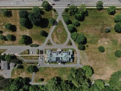 Aerial views of the Lieutenant Governor's residence in Fredericton, New Brunswick