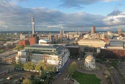 Aerial wiev from Birmingham, England, Europe.