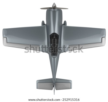 Aerobatic aircraft isolated on white