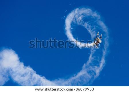 Aerobatic Plane in flight