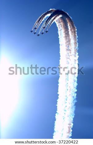 Aerobatic team at airshow