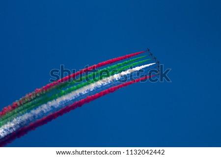 Aerobatic team performing in Public event