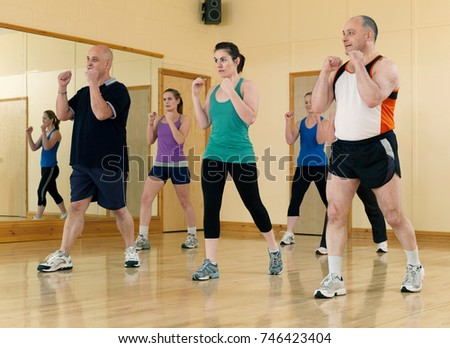 aerobic exercise at gym