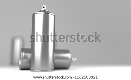 Aerosol Can On White Background