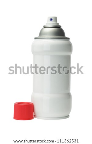 Aerosol Spray Can on White Background