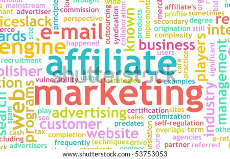 Affiliate Marketing Web Concept as a Abstract - stock photo