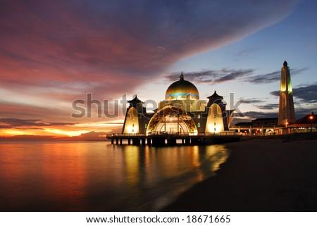 Afloat Mosque in Melaka