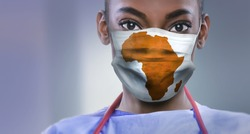 AFRICA - Coronavirus surgical mask doctor wearing face protectiv