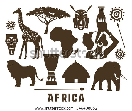Africa elements and icons set.