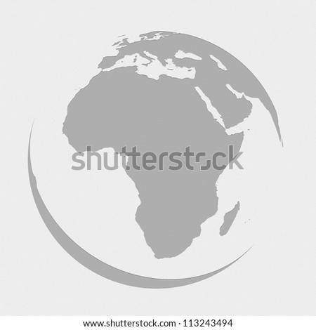 africa globe planet earth map