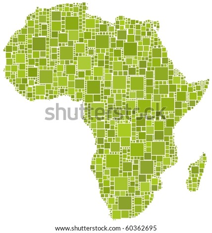 Africa in a green mosaic