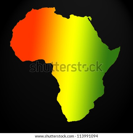 Africa map outline