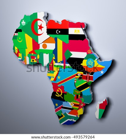 Royaltyfree Map flags of Africa in tree design 218592985 Stock