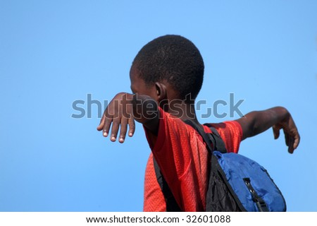 Africa.Mozambique, happy african children
