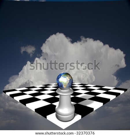 Africa Pawn on Chessboard