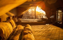 Africa wildlife reserve lodge